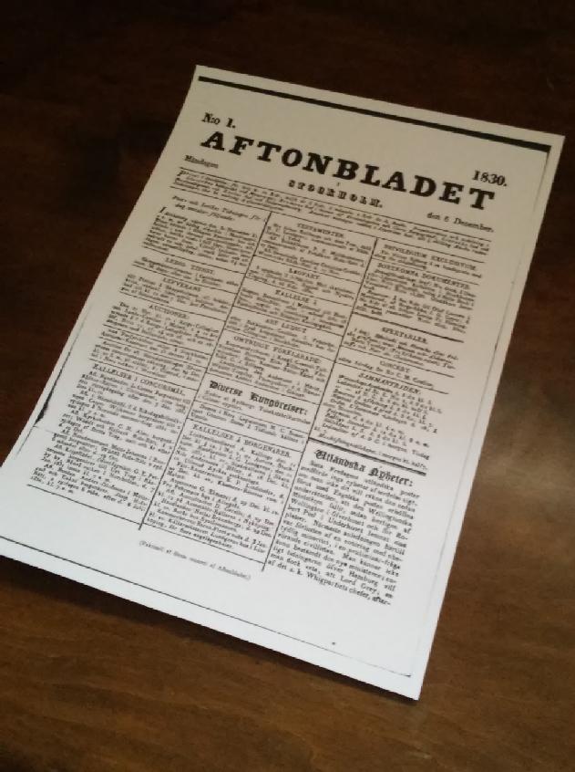 Ur Hiertas självbiografi - Om falska nyheter på 1800-talet